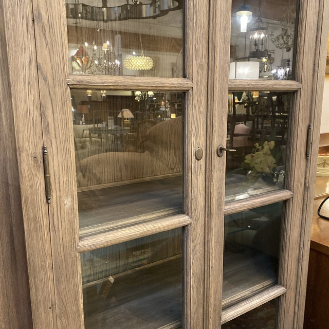 Custom Design Wallace Glass Front Cabinet For Sale - Image 12 of 13