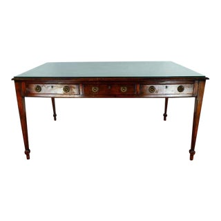 Federal Style Mahogany Glass Top Writing Desk