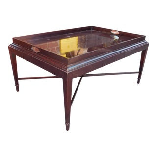 Baker Barbara Barry Tray Top Mahogany Coffee Table