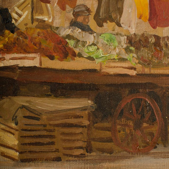 """- """"Market In Milan"""" on verso - signed and dated lower right '48 - Unframed"""
