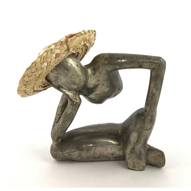 """""""Man in Mid Air"""" Modern Metal Artisanal Sculpture For Sale - Image 12 of 12"""