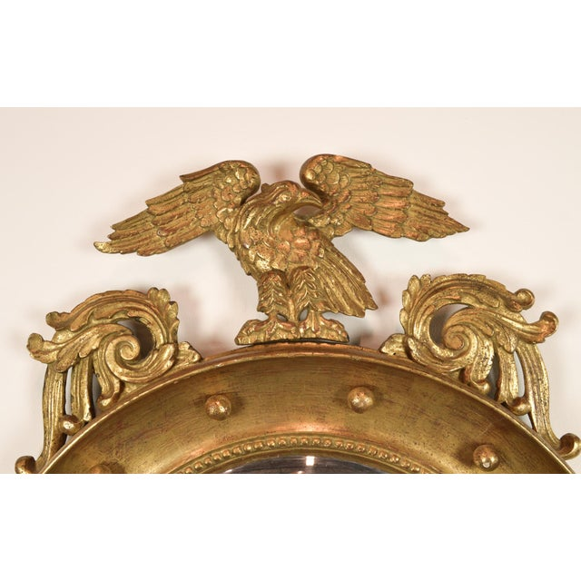 Federal-Style Gilt Convex Mirror - Image 7 of 8