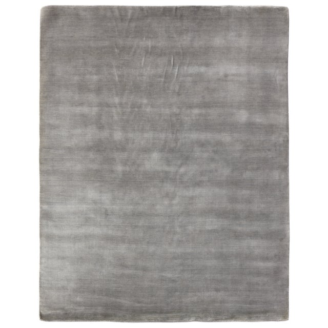 Transitional Exquisite Rugs Trillo Hand loom Wool Blue Rug-8'x10' For Sale - Image 3 of 3