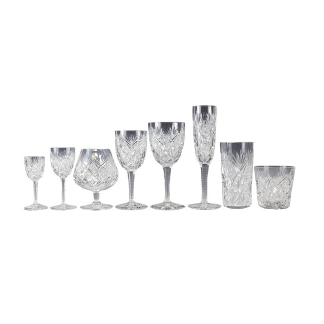 Stemware Service for 12 in Florence Pattern by Saint Louis - Set of 108 - Image 1 of 7