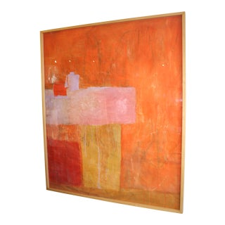 Original Abstract Collage Painting by Charlotte Culot For Sale