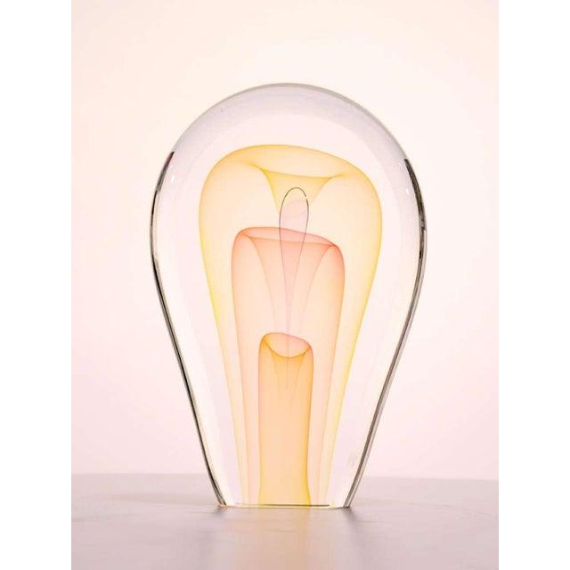 Orange Art Glass Sculpture by Ed Nesteruk For Sale - Image 8 of 9