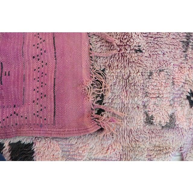 "Boujad Vintage Moroccan Rug - 5'8"" x 13'1"" - Image 4 of 4"