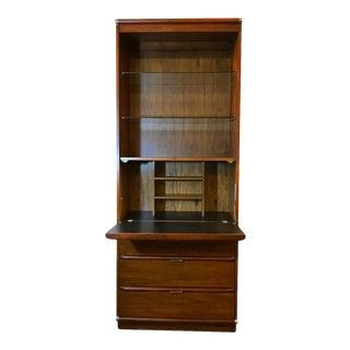 Multi-Functions Walnut Cabinet by Drexel For Sale