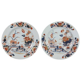 Pair of Chinese Export Imari Pattern Plates For Sale