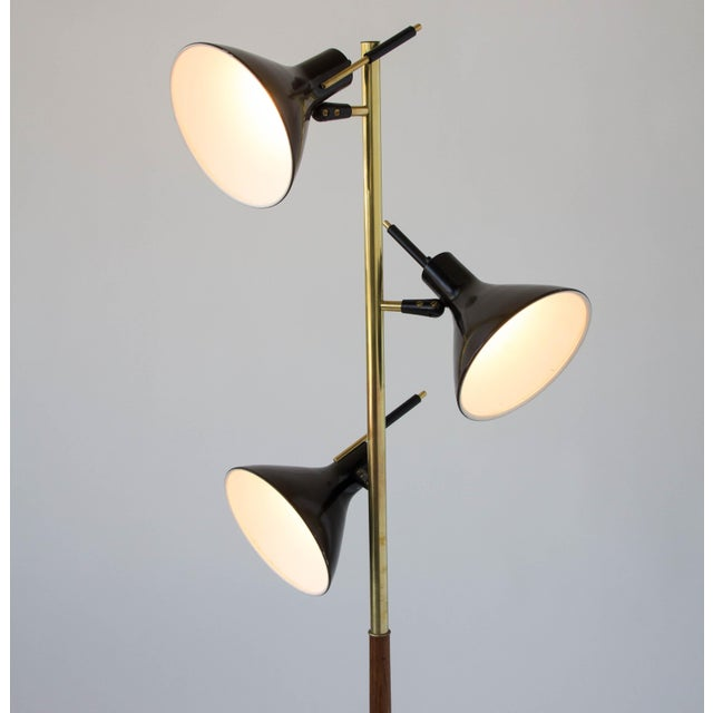 Three-Shade Floor Lamp by Gerald Thurston Lightolier For Sale In Los Angeles - Image 6 of 11
