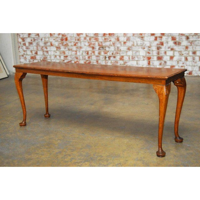 19th Century Queen Anne Revival Walnut Bench or Console - Image 3 of 8