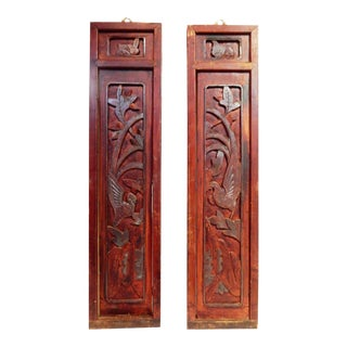Antique Wall Hanging Panels - A Pair For Sale
