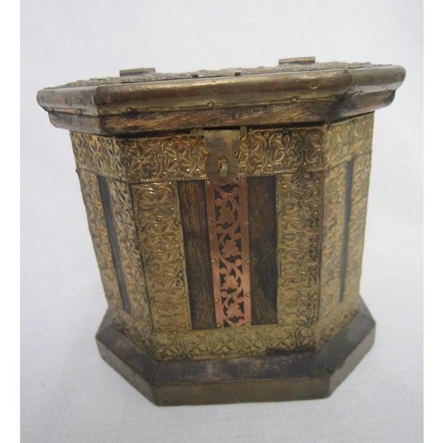 Vintage Boho Indian Wood Box - Image 2 of 7