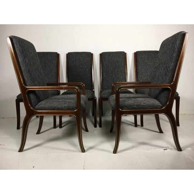 1970s Vintage Baker Furniture Company Dining Room Chairs- Set of 6 For Sale - Image 13 of 13