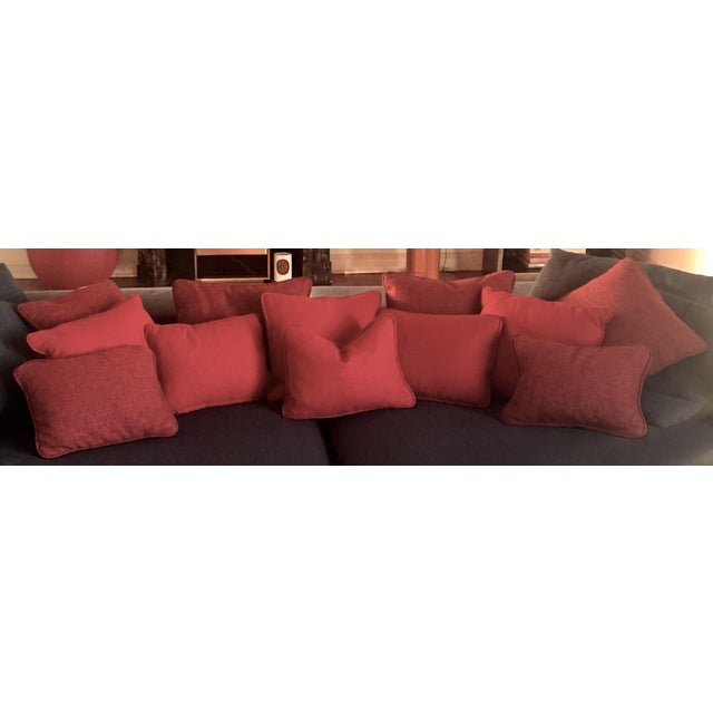 Solid Striated Silk Blend Pillows - Set of 6 - Image 2 of 7