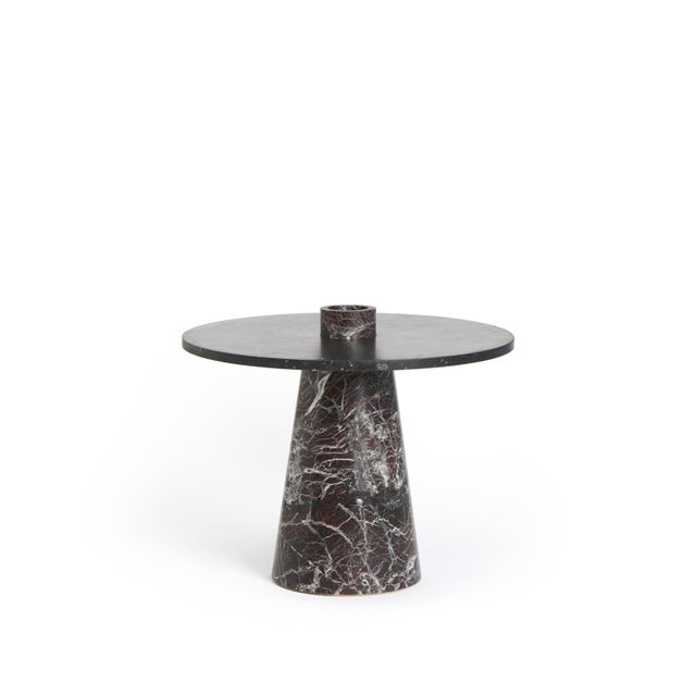 Modern Coffee Table With Accessories in Red and Black Marble, by Karen Chekerdjian For Sale - Image 10 of 12