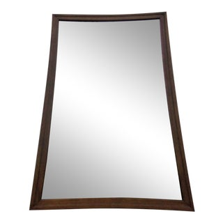 Mid Century Modern Broyhill Sculptra Walnut Wall Mirror For Sale