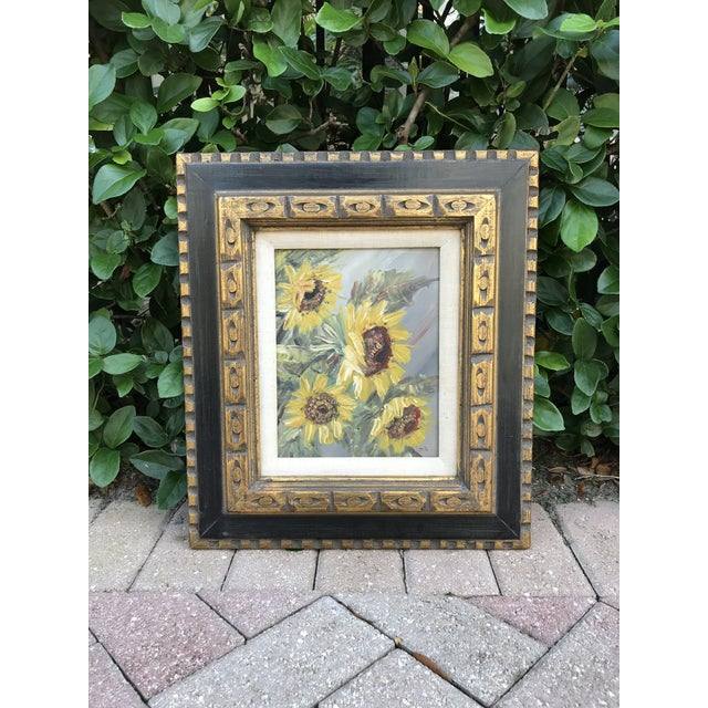 Mid-Century Impressionist Painting of Sunflowers For Sale - Image 9 of 10