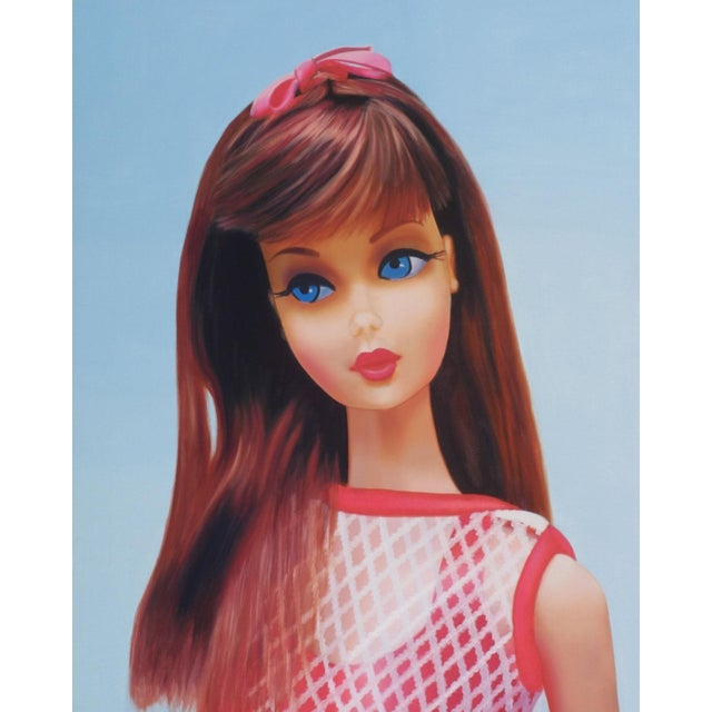 This is a gorgeous 1967 Barbie Oil Painting! The swingin' sixties had arrived and Barbie welcomed a new transformation and...