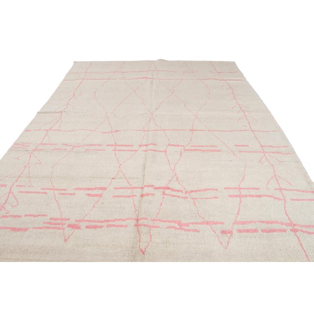 21st Century Modern Moroccan-Style Wool Rug For Sale - Image 12 of 13