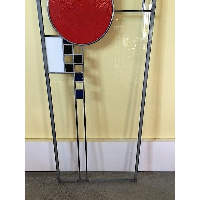Frank Lloyd Wright Style Stained Glass Window For Sale In New York - Image 6 of 6