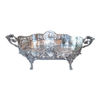 Art Nouveau Jardiniere Style Tray Silver Plate Ornate