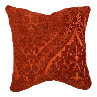 Custom Fire Chenille Throw Pillow