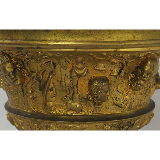 Mid 19th Century 19th C. Bronze Tazza on Marble Base For Sale - Image 5 of 13