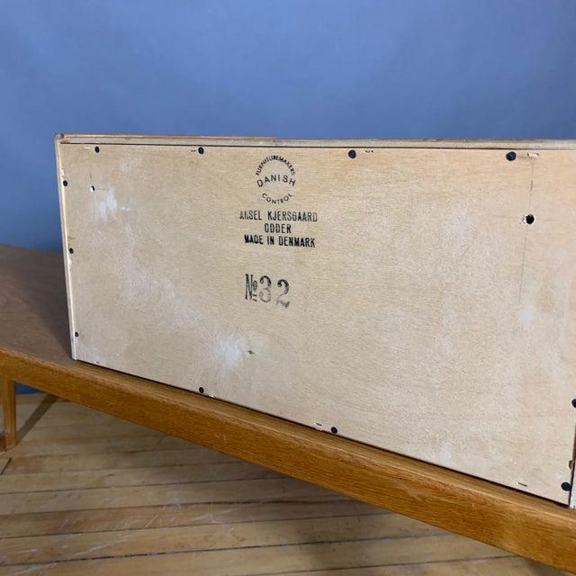 Wood Oak Hall Table by Kai Kristiansen for Aksel Kjersgaard, Denmark 1960s For Sale - Image 7 of 10