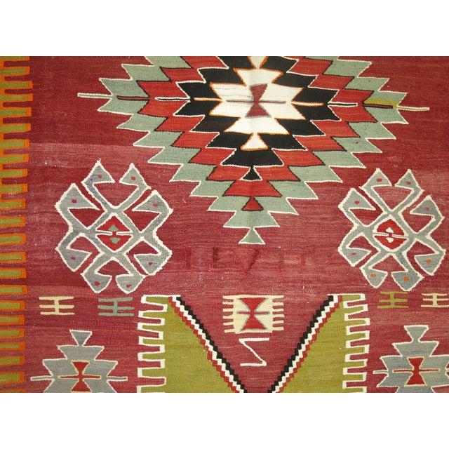 Boho Chic Vintage Kilim Rug - 3'11'' X 5'1'' For Sale - Image 3 of 4