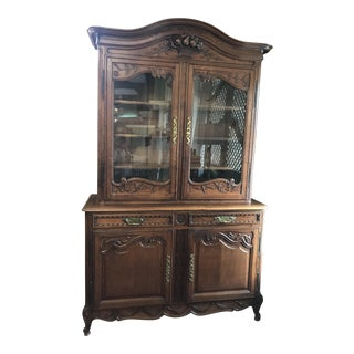 French Normandy Stained Oak Buffet