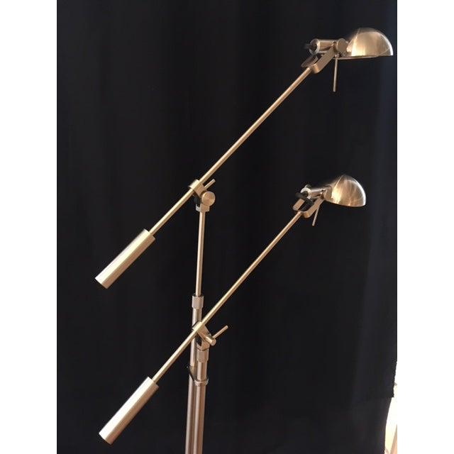 Double Swing Arm Tandem Adjustable Halogen Floor Lamp