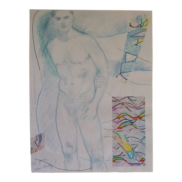 Male Nude Collage by James Bone 1990s For Sale