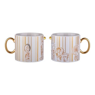 Liuli Bone China Tableware, Zen, Freedom Mug (Set of 2) Limited Edition
