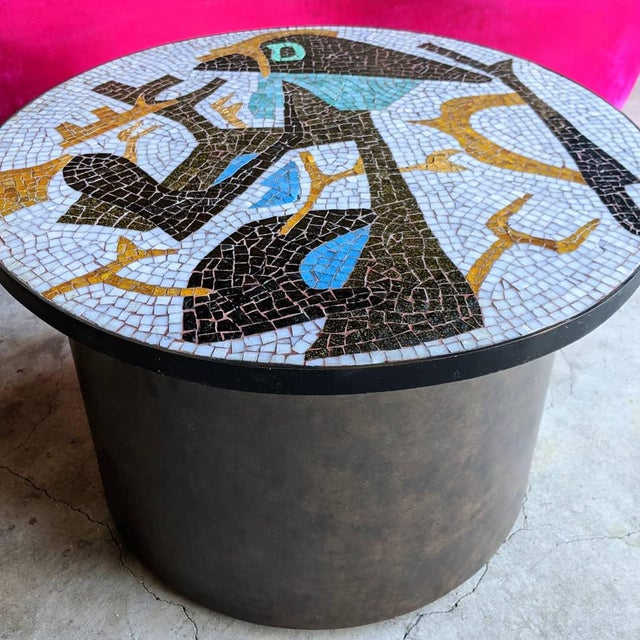 Artisan Midcentury Modern Mosaic Table For Sale - Image 4 of 13