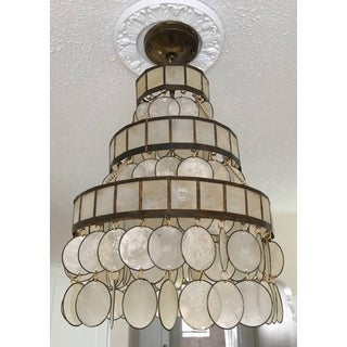 Tiered Capiz Shell and Brass Chandelier Preview