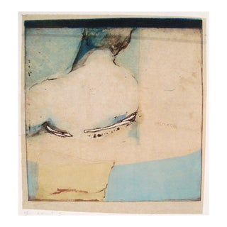 Figural Hand Colored Etching, S. Canini, France, 1997 For Sale