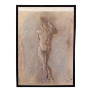 Circa 1950 Figural Sketch, American For Sale