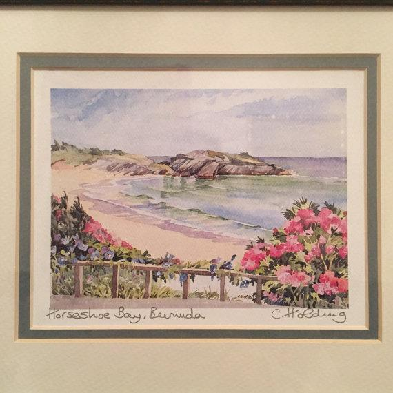 Cottage Framed Watercolor Print by Carole Holding For Sale - Image 3 of 6
