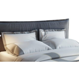 Monte Carlo Banded Pillowcases King - Graphite Preview