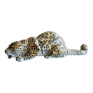 1950s Dorothy Kindell Glazed Ceramic Leopard For Sale