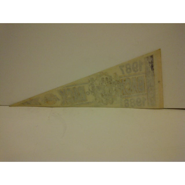 Vintage Nba Basketball Team Pennant - Los Angeles Lakers - Back to Back World Champions 1987-1988 For Sale In Pittsburgh - Image 6 of 6