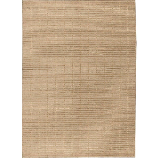 """Contemporary Hand Woven Rug - 4'9"""" x 6'9"""" For Sale - Image 4 of 4"""