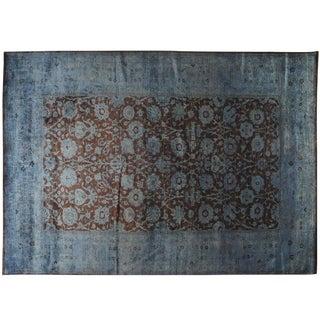 Blue & Burgundy Silky Vintage Collection - 10′ × 13′1″ For Sale