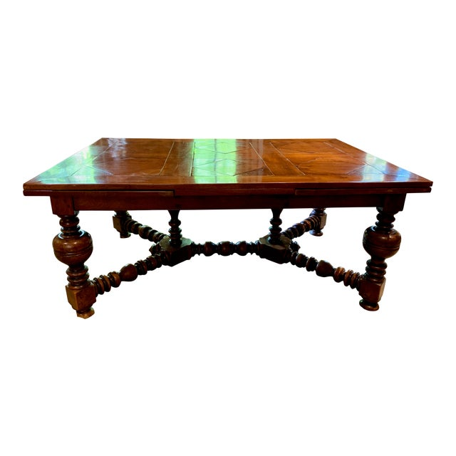 19th Century French Draw Leaf Table For Sale