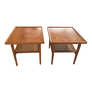 Drexel End Tables Declaration a Pair With Cane For Sale