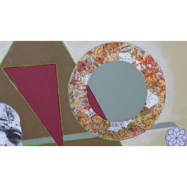 """2010s Original Collage Painting """"Ring"""" by Carl M. George For Sale - Image 5 of 5"""