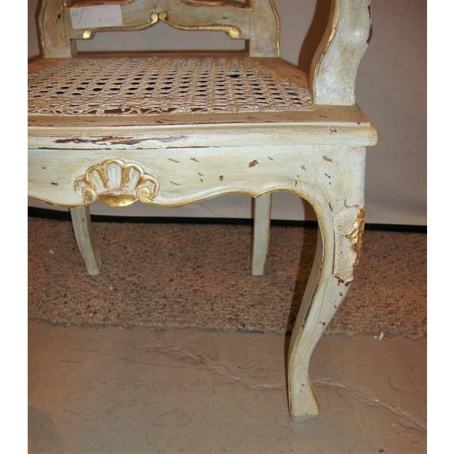 Louis XV Style Gilt Decorated Arm Chair - Image 8 of 9