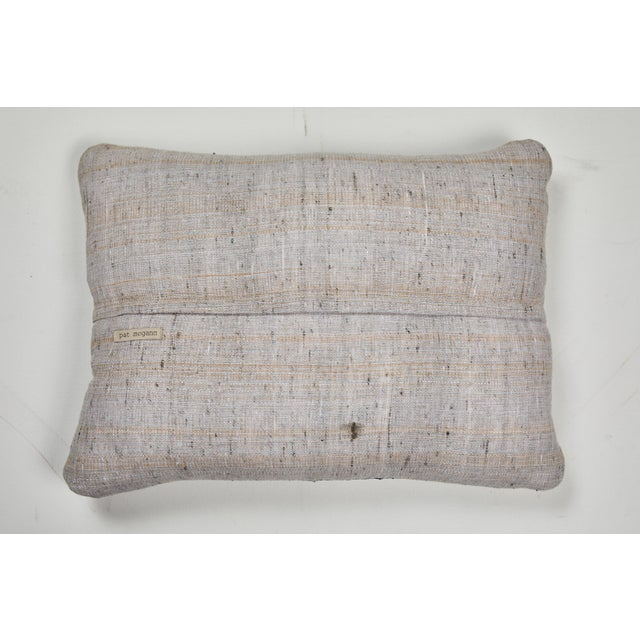 Antique Kazak Carpet Pillow For Sale - Image 4 of 8