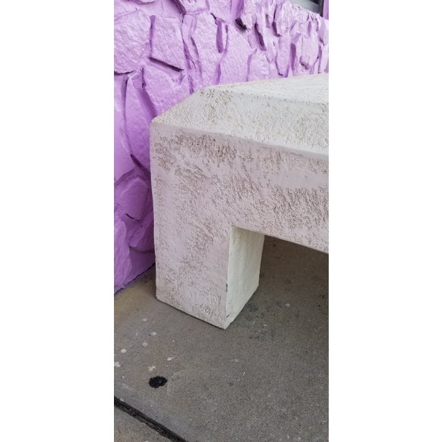 Vintage Postmodern Plaster Coffee Table For Sale In Miami - Image 6 of 13